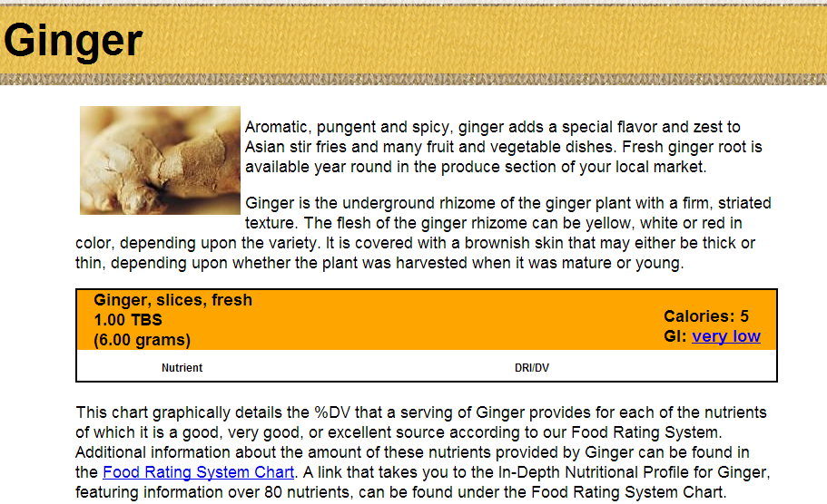 World's Healthiest Foods Ginger — WHFoods.org The George Mateljan Foundation
